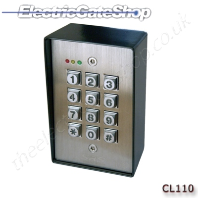 E Gates Cl110 Dk2850 Stainless Steel Keypad Quick